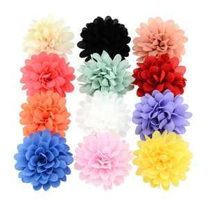 KABOER:9167 12Pcs Baby Girls Bows Soft Chiffon Flower Petals Hair Clip Girls Toddler Babies Hairpin Kids Girls Hair Accessories