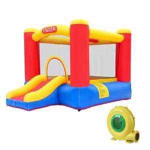 UBesGoo Inflatable Bounce House Small Jumper Slide Basket Kids Castle + Blower + Carry Bag
