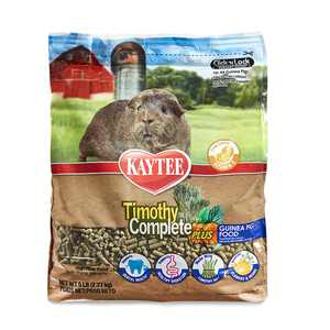 Timothy Hay Complete Plus Flowers And Herbs Guinea Pig Food, 5Lb Bag, Made With Timothy Hay To Support A Natural Digestive Process For Guinea Pigs By Kaytee