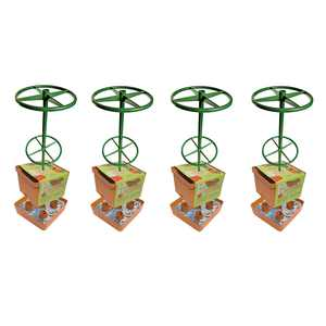 Hydrofarm Self Watering Tomato Tree Planter with 3' Sturdy Frame Tower (4 Pack)