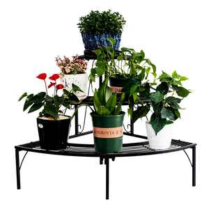 Ktaxon 3 Tier Plant Stand Flower Pot Rack, Quarter Round Plant Corner Shelf