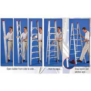 GP Logistics SLD-D7 7' Compact Folding Ladder