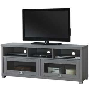 """Maddie Home Walker 60"""" Contemporary TV Media Stand with Storage in Gray"""
