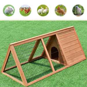 """Zimtown 50"""" Pet House Wood Rabbit Hutch Bunny Pet Cage Chicken Coop"""
