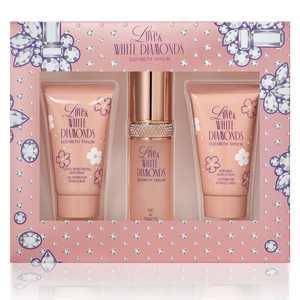 ($58 Value) Elizabeth Taylor Love & White Diamonds Perfume Gift Set for Women, 3 pieces
