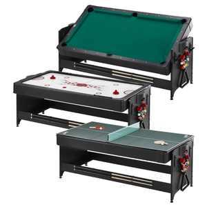Fat Cat Original 3-in-1 7' Pockey Table, Billiard/Pool, Air Hockey, Table Tennis