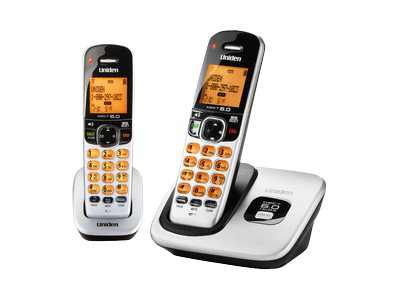 Uniden D1760-2 - Cordless phone with caller ID/call waiting - DECT 6.0 - black, silver + additional handset