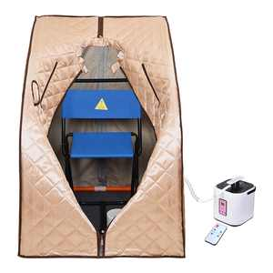 Yescom 2L Portable Steam Sauna Spa Full Body Sauna Tent Slim Home with Chair Remote