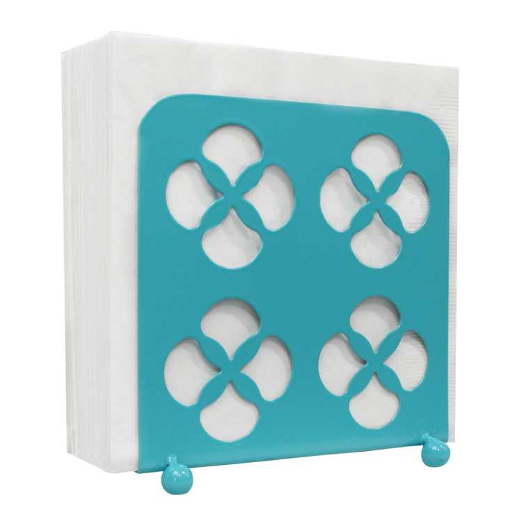 Blue Donuts Trinity Collection Metal Napkin Holder Turquoise