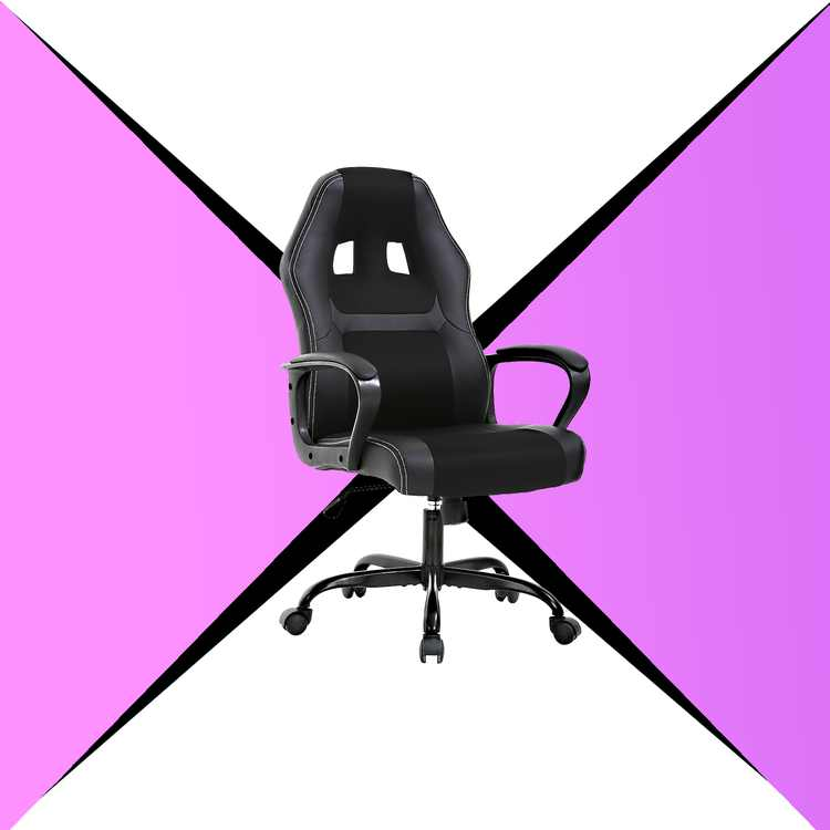 LCH Racing Style Ergonomic Gaming Chair With Lumbar Support, Black