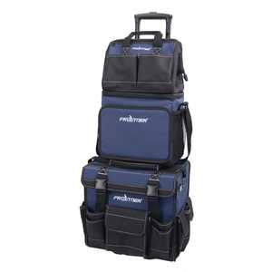 Frontier 3 Piece Tool Bag Combo Set with 15-inch Rolling Tool Bag, 12-inch Tool Bag and Insulated Lunch Cooler Bag