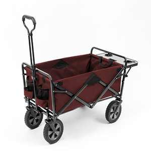 Mac Sports - Folding Wagon With Table, Maroon