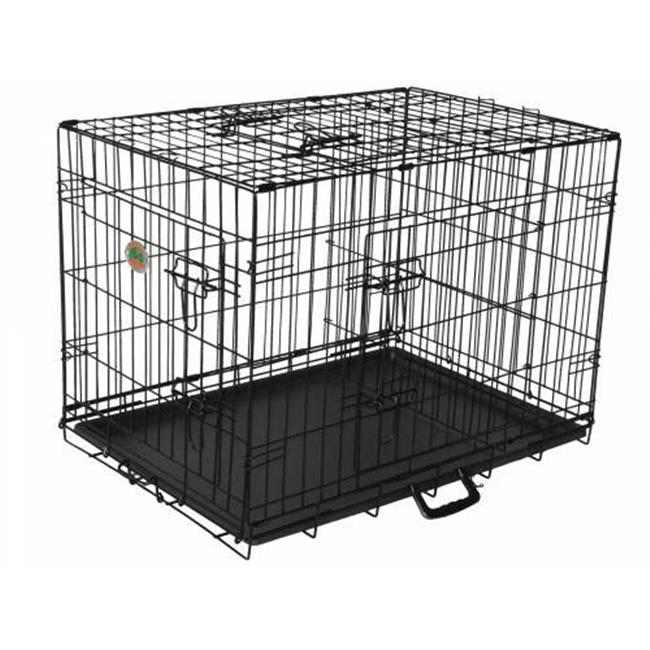 48 in. Three-Door Metal Dog Crate with Divider