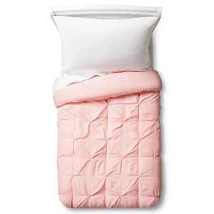 Toddler Pinch Pleat Comforter Light Pink - Pillowfort™