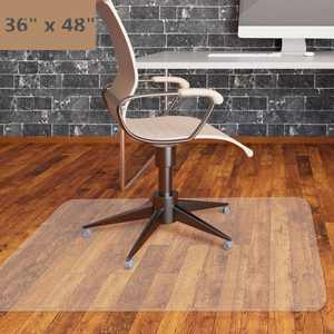 """Zimtown PVC Chair Mat 36"""" x 48"""" Hard Floor Protection Clear Transparent US 1.5 mm in Height"""