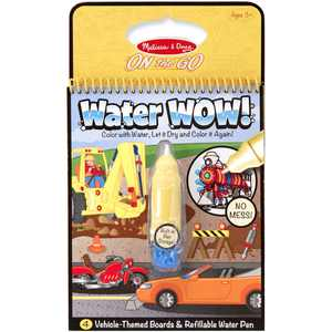 Melissa & Doug On The Go Water Wow! Vehicle Themed Boards and Refillable Water Pen