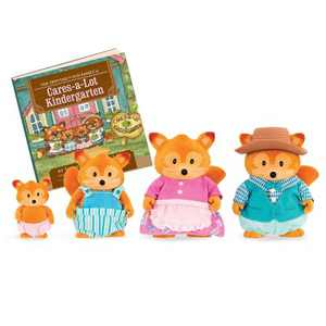 Li'l Woodzeez Miniature Animal Figurine Set - Tippytail Fox Family