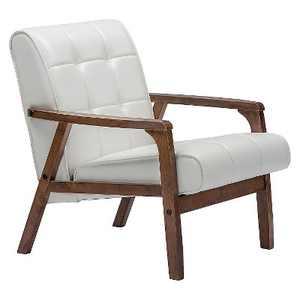 Mid-Century Masterpieces Club Chair White - Baxton Studio