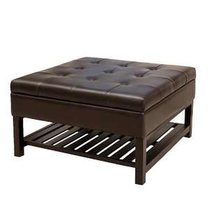 Miriam Wood Storage Ottoman - Brown - Christopher Knight Home