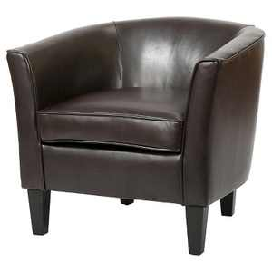 Aiden Bonded Leather Club Chair - Christopher Knight Home