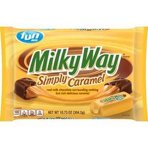 Milky Way Simply Caramel Milk Chocolate Fun Size Candy Bars, 10.73 Oz
