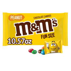 M&M'S Peanut Milk Chocolate Fun Size Halloween Candy Bag - 10.57oz