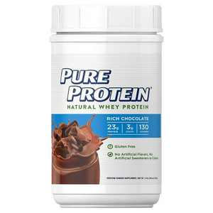 Pure Protein Natural Whey Protein Powder - Rich Chocolate - 25.6oz