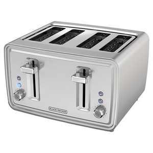 BLACK+DECKER 4 Slice Toaster - Stainless Steel TR4900SSD