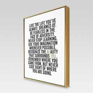 """16"""" x 20"""" Be You Framed Canvas - Threshold™"""