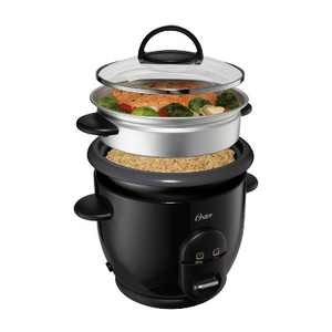 Oster DiamondForce Nonstick 6-Cup Electric Rice Cooker - Black