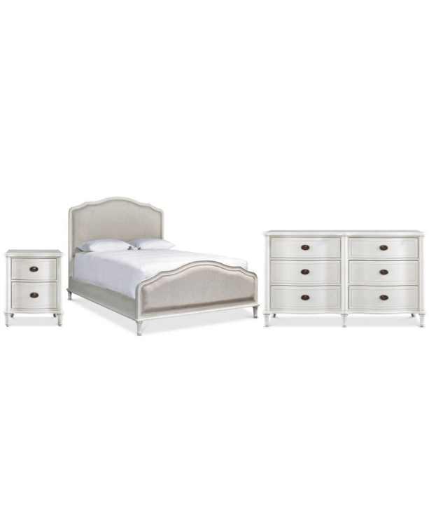Carter Upholstered Bedroom Collection, 3-Pc. Set (Upholstered Queen Bed, Dresser & Nightstand)