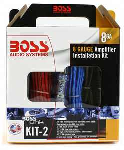 Boss Audio KIT2 8 Gauge Amplifier Installation Wiring Kit