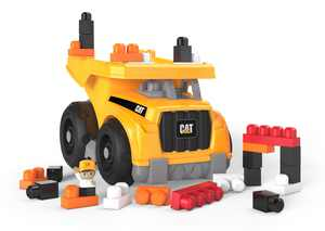 Mega Bloks CAT Large Dump Truck with Big Building Blocks, Buildng Toys for Toddlers (25 Pieces)