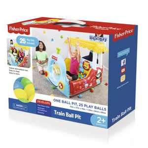 Fisher-Price Train Ball Pit with 25 Multi-Colored Play Balls