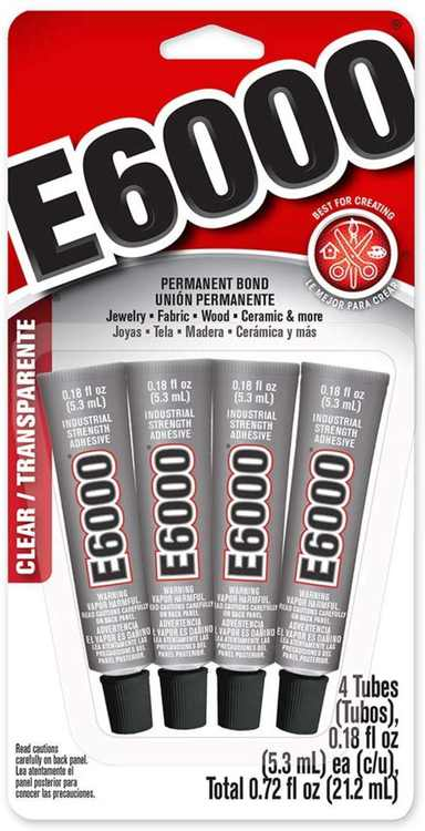 5510310 Craft Adhesive Mini (4 Pack), This cement does not dry instantly -- you have at least 5 minutes to make adjustments before the glue starts to set. For maximum.., By E6000