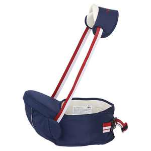Baby Carrier Lightweight Hip Seat Carrier Multifunctional Front Hipseat Baby Waist Stool Baby Seat with Adjustable Strap Removable Shoulder Strap for 0-36 Month Baby, Dark Blue