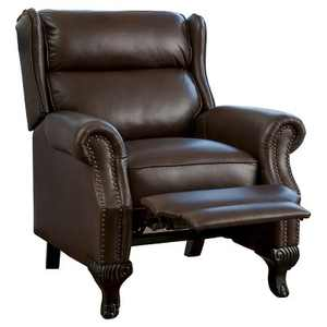Tauris Faux Leather Recliner Club Chair Dark Brown - Christopher Knight Home