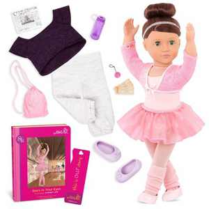 "Our Generation 18"" Ballet Doll with Storybook & Outfit - Sydney Lee - Pink"