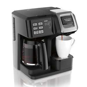 Hamilton Beach FlexBrew Trio Coffee Maker, Single-Serve, Black & Silver, Model 49954
