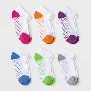 Girls' 6pk Low Cut Socks - Cat & Jack