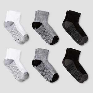 Boys' 6pk Athletic Anke Socks - Cat & Jack White/Gray/Black