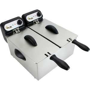 Chard - 6.3 qt. Dual Deep Fryer - Stainless Steel