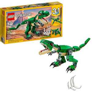 LEGO Creator Mighty Dinosaurs Build It Yourself Dinosaur Set, Pterodactyl, Triceratops, T Rex Toy 31058