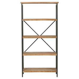 """Perth 68.5"""" 5-Shelf Industrial Bookcase Antique - Christopher Knight Home"""