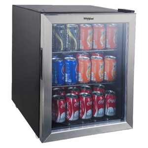 Whirlpool 2.7 cu ft Mini Refrigerator Beverage Center - Stainless Steel WHB27S
