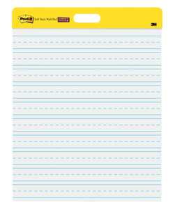 Post-it Self-Stick Wall Easel Pad feat. Primary Lines, and Command Hanging Strips