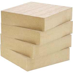Unfinished Wood Squares for Crafts, 1 Inch Thick (4 x 4 in, 4 Pack)