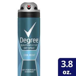 Degree Men Antiperspirant Deodorant Dry Spray Cool Rush 3.8 Oz.