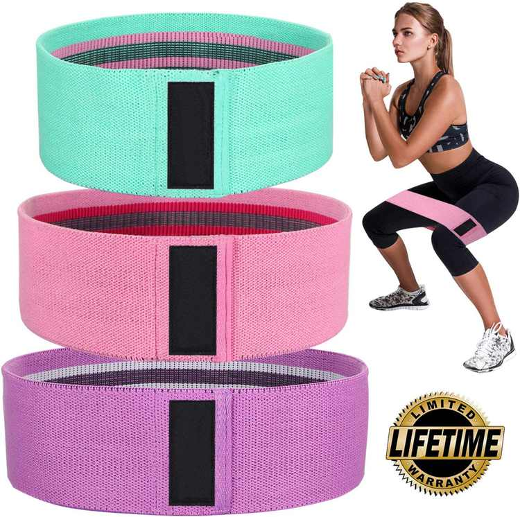 Coolmade Exercise Resistance Bands for Legs and Butt, Upgrade Thicken Anti-Slip & Roll Workout Booty Bands, Mini Hip Circle Loop Sliders Fitness Thigh Glute Bands Set for Women