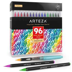 Arteza Real Brush Pens - 96 Colors - Watercolor Markers - (Set of 96)